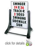 Standard Swinger Sidewalk Message Board Sign