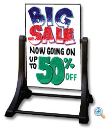 Swinger Sidewalk Sign with Write-On Wash-Off Sign face