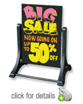Swinger Black Write-On Wash-Off Sidewalk Sign