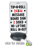 Standard Tip N Roll  Changeable Letter Sidewalk Sign